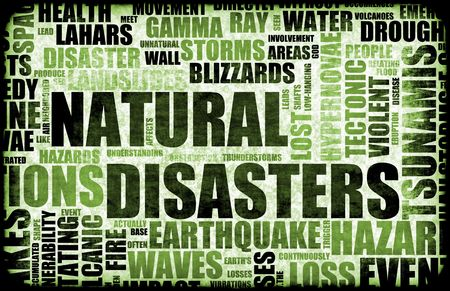 Grunge de desastres naturales como un fondo de arte