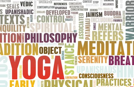 new ages: Yoga Learning Exercise Class as a Background