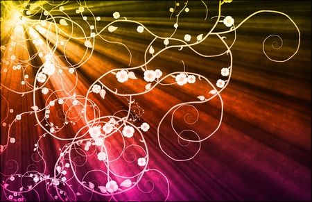 Romance Love Growing Vines as Abstract Background photo