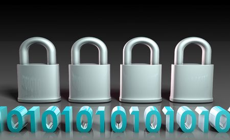Secure for Technology Encryption as Art Stock Photo - 6684187