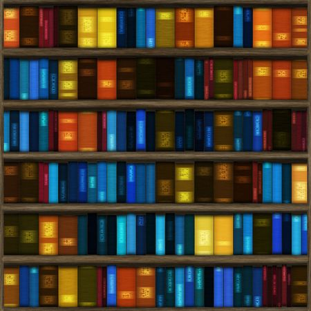 Seamless Book Shelf Texture as a Background photo