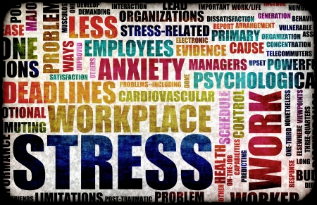 Work Stress in the Workplace as Concept photo