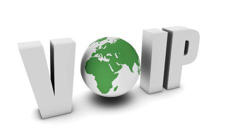 VoIP Voice Over IP Internet Communication en 3d  Banque d'images - 6718114