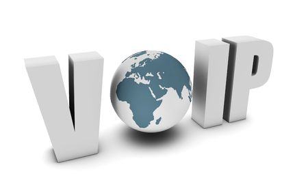 telecommunications equipment: Voip Voice Over IP Internet Communication in 3d