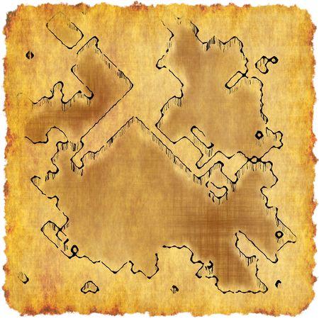 Carte Trésor sur vieux livre jaune de parchemin Banque d'images - 6718170