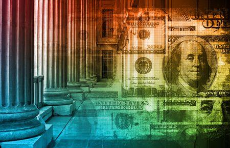 corrupcion: Concepto de ley de Finanzas como un arte y contabilidad  Foto de archivo