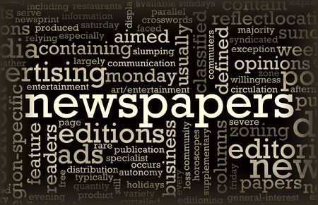 Newspapers Concept of News Updates and Headlines photo
