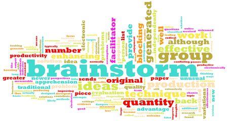 Een brainstorm sessie Concept als een Abstract