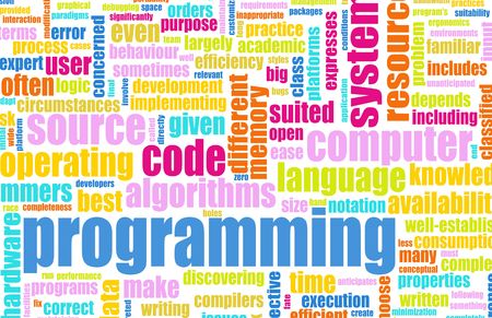 programming code: Computer Programming Code Concept as a Abstract Stock Photo