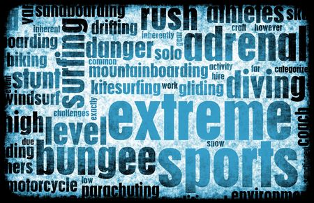 extreme sport: Extreme Sports Grunge Background as a Art