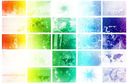 Futuristic Web Cyber Data Grid Color Background Stock Photo - 6742998