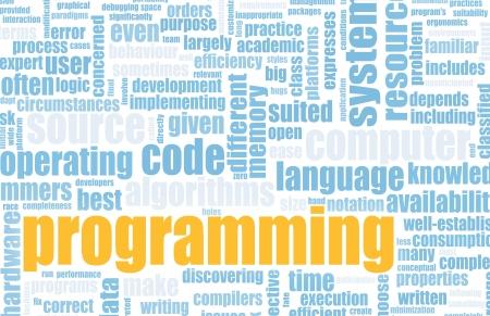 コンピュータ ・ プログラミング、抽象としてコード概念 写真素材 - 6743000