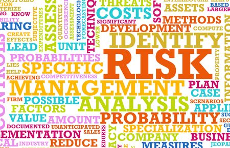 managing: Risk Management Corporate Concept as a Abstract Stock Photo