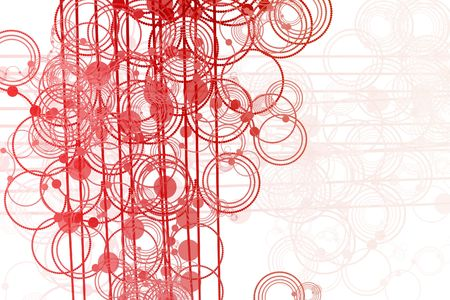 Clean Flowing Lines and Circles Abstract Background  Reklamní fotografie