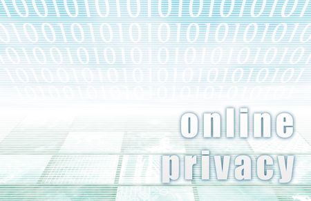 technolgy: Online Privacy on a Clear Blue Tech Art