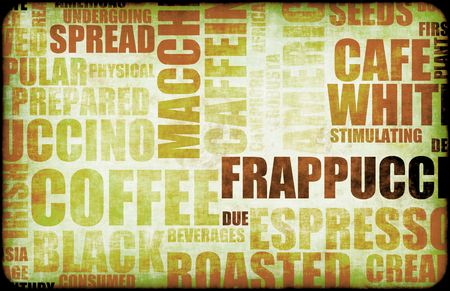 coffees: Brown Coffee Menu Beverage as a Art Background