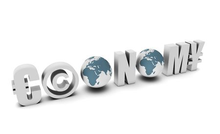 diplomatic: Economy Global Concept in 3d of a Country Stock Photo