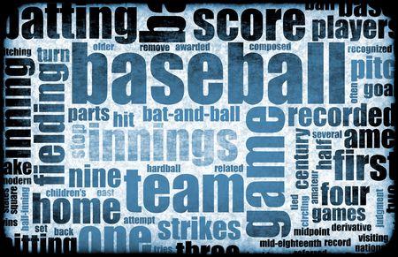 Baseball Game as a Sport Grunge Background