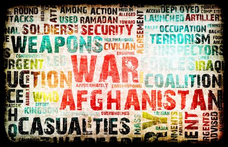 Afghanistan War as a Grunge Abstract Background photo