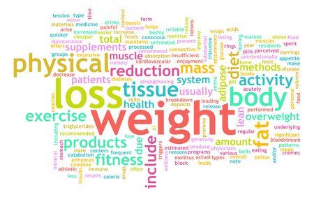 Gewicht Loss Konzept für eine gesunde Lifestyle Standard-Bild - 6764716