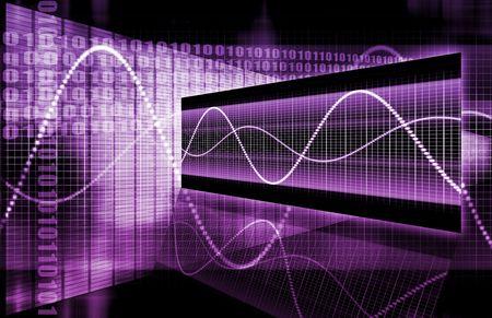 multimedia: A Multimedia Technology Data as Art Background Stock Photo