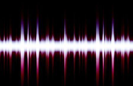 Digitaal Soundwave grafiek zoals Clip Art Abstract