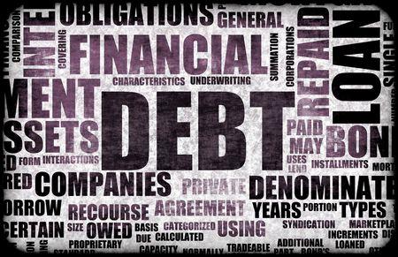 Financial Debt as a Abstract Background Concept photo