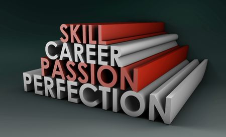 Business Skills For Passion and Career in 3d Stock Photo - 6772835