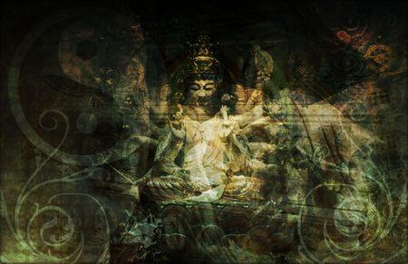Boeddha Chinees Abstract achtergrond als een achtergrond Stockfoto