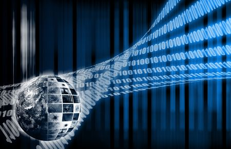 web servers: Futuristic Web Cyber Data Grid Color Background Stock Photo