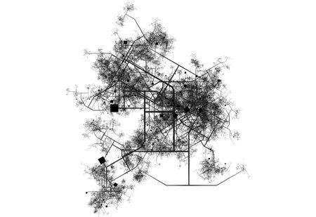 都市の輸送システム地図の青写真