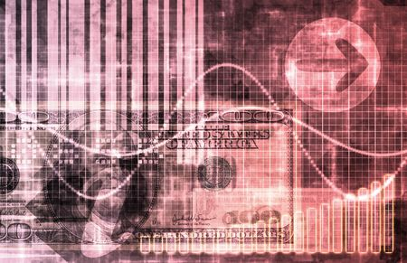Pink Cyberspace Business System as Art Abstract Stock Photo - 6787809