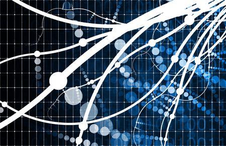 Blauwe technologie abstract als een energie data grid