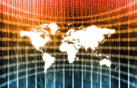 データの背景にグローバルなビジネス システム 写真素材