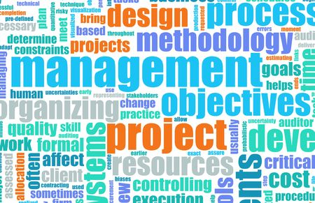 Project Planning and Phase as a Background Foto de archivo