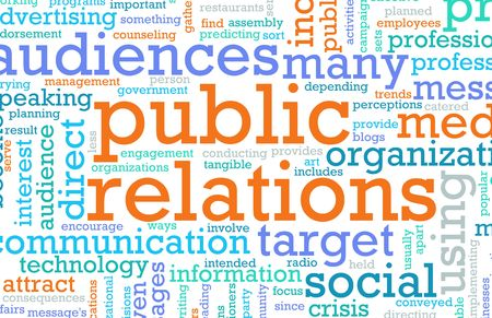 communications: Public Relations PR Concept as a Abstract