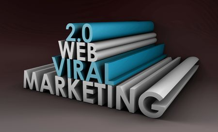 Web 2.0 Viral Marketing Method Online in 3d Stock Photo - 6787857