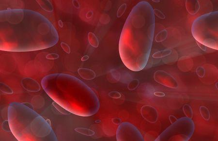 microscopisch: Rode bloed cellen microscopic stroomt in het lichaam