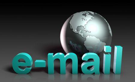 Email Corporate Concept in 3d Futuristic Art Reklamní fotografie - 6796738