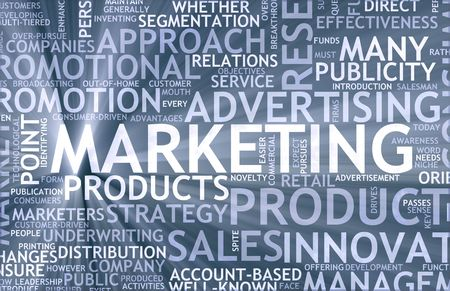 Marketing Background as Art with Related Terms Stock Photo