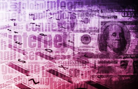 Online Advertising on a Clear Web Tech Art Stock Photo - 6796769