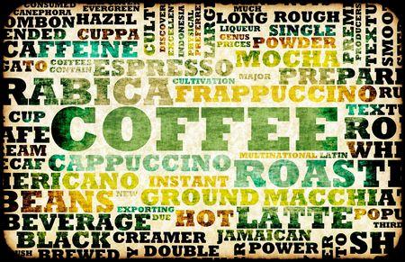 Coffee Menu Choices as a Creative Background