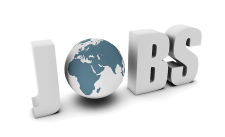 Global Jobs and Career Opportunities in 3d Stock Photo - 6811389