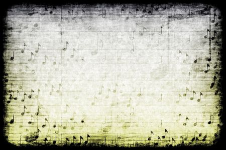 music abstract: A Music Themed Abstract Grunge Background Texture Stock Photo