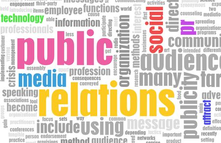 relation: Public Relations PR Concept as a Abstract