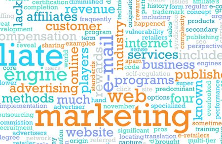 marketing strategy: Web Marketing-Strategie von einem Unternehmen Online Lizenzfreie Bilder