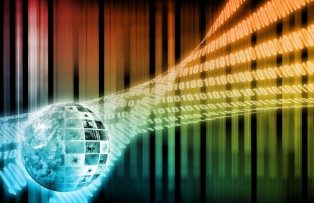 Digitale oplossingen voor de Corporate Business Art Stockfoto