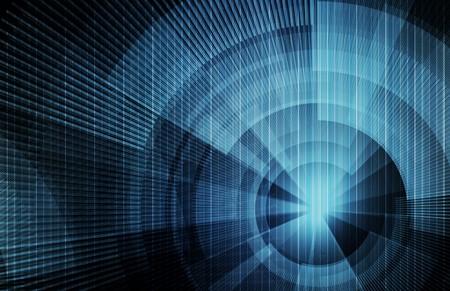 Achtergrond van de technologie concept met een Science-Art
