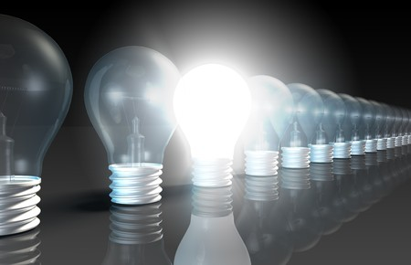 pensamiento creativo: Concepto de idea brillante de nuevas ideas creativas