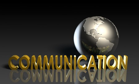 Communication Services on a Global Scale in 3d Banco de Imagens - 6841488